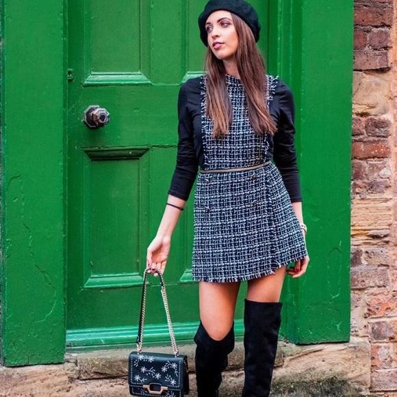 e335ded28751 NWT Zara Tweed Jumpsuit
